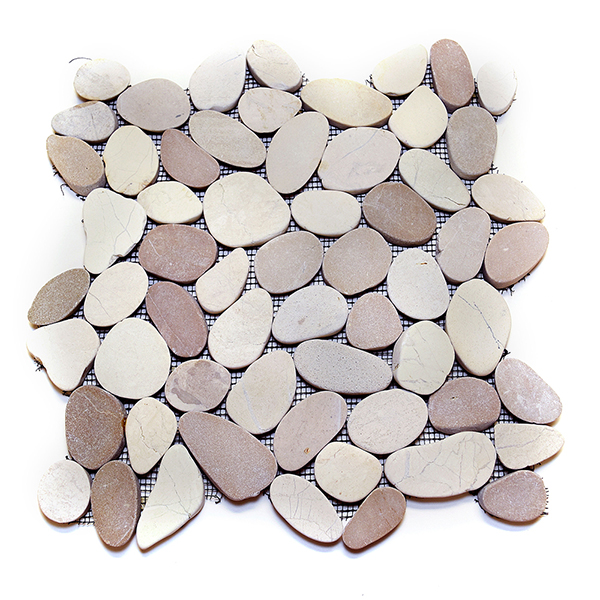 Sliced Flat Pebble Tile