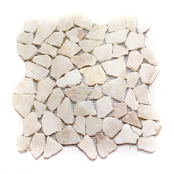 Natural Quartz Flat Mosaic Tile shower pebble tile floor, bathroom pebble rock floor, river rock stone mosaic floor tile, natural interlocking pebble tile flooring, mosaic stone tile, kitchen backsplash, sliced, mini, polished, natural pebble, pool surround, patio landscape