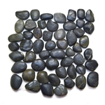 Polished Black Pebble Tile shower pebble rock tile floor, pebble tile, river rock stone mosaic floor tile, bathroom pebble rock floor, natural interlocking pebble tile flooring, mosaic stone floor, river rock tile bathroom floor, kitchen pebble mosaic backsplash, sliced pebble, mini pebble