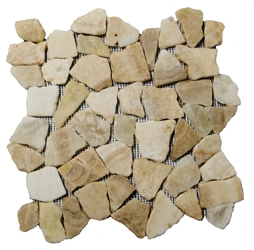 Glazed Quartz Flat Mosaic Tile bathroom pebble tile floor, shower pebble rock floor, river rock stone mosaic floor tile, natural interlocking pebble tile flooring, mosaic stone tile, backsplash, sliced, mini, polished, natural pebble