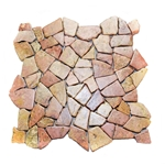 Glazed Red Flat Mosaic Tile bathroom pebble tile floor, shower pebble rock floor, river rock stone mosaic floor tile, natural interlocking pebble tile flooring, mosaic stone tile, backsplash, sliced, mini, polished, natural pebble