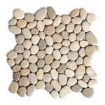 Glazed Spring Rain Pebble Tile shower pebble tile floor, bathroom pebble rock floor, river rock stone mosaic floor tile, natural interlocking pebble tile flooring, mosaic stone tile, backsplash, sliced, mini, polished, natural pebble