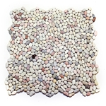 Mini Mixed Pebble Tile bathroom pebble tile floor, shower pebble rock floor, river rock stone mosaic floor tile, natural interlocking pebble tile flooring, mosaic stone tile, kitchen backsplash, sliced, mini, polished, natural pebble, pool surround, patio landscape