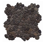 Natural Black Pebble Tile shower pebble tile floor, bathroom pebble rock floor, river rock stone mosaic floor tile, natural interlocking pebble tile flooring, mosaic stone tile, kitchen backsplash, sliced, mini, polished, natural pebble, pool surround, patio landscape