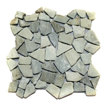 Natural Green Flat Mosaic Tile pebble tile, stone tile, natural interlocking pebble tile, bathroom pebble floor, pebble shower floor, mosaic tile, river rock tile, stone mosaic, kitchen backsplash, sliced pebble, mini pebble