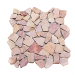 Natural Red Flat Mosaic Tile shower pebble tile floor, bathroom pebble rock floor, river rock stone mosaic floor tile, natural interlocking pebble tile flooring, mosaic stone tile, kitchen backsplash, sliced, mini, polished, natural pebble, pool surround, patio landscape