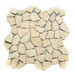 Natural Sandstone Flat Mosaic Tile shower pebble tile floor, bathroom pebble rock floor, river rock stone mosaic floor tile, natural interlocking pebble tile flooring, mosaic stone tile, kitchen backsplash, sliced, mini, polished, natural pebble, pool surround, patio landscape