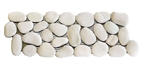 Natural White Pebble Tile Border shower pebble tile floor, bathroom pebble rock floor, river rock stone mosaic floor tile, natural interlocking pebble tile flooring, mosaic stone tile, kitchen backsplash, sliced, mini, polished, natural pebble, pool surround, patio landscape